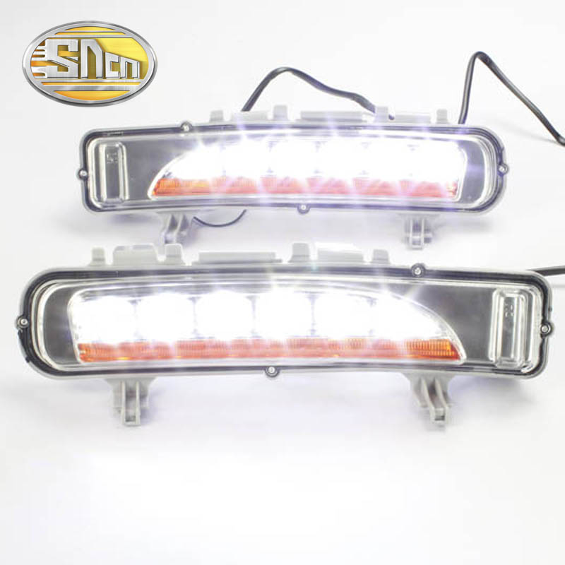 SNCN LED Daytime Running Light For Ford Edge 2009 - 2014,Car Accessories Safety Waterproof ABS 12V DRL Fog Lamp Decoration sncn led daytime running light for ford f 150 svt raptor 2010 2014 car accessories waterproof abs 12v drl fog lamp decoration