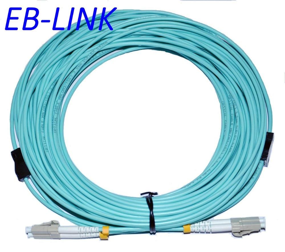 Крытый бронированный OM4 150 м LC LC дуплекс 10 гигабитных 50/125 многомодовый оптоволоконный кабель аква 10 ГБ патч шнуру