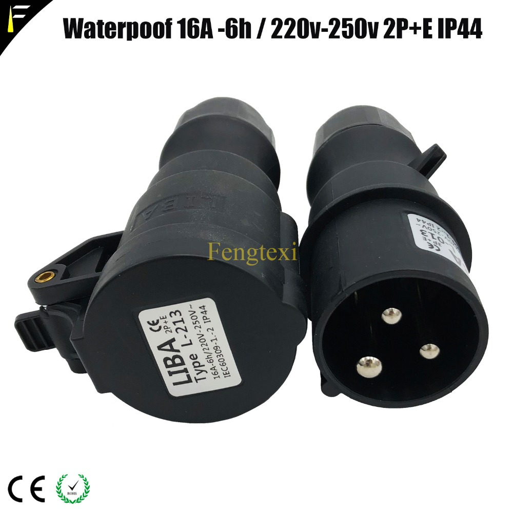 1Set(2PCS)Waterproof Female&Male CEE 16A Connector For Rubber Cable 16A CEE Adapter Electrical Plug Socket 240V Industrial 3Pin