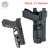 Gun Accessories Belt Gun Holster Fit For Glock 17 18 19 30 31 With Flashlight Blackhawk
