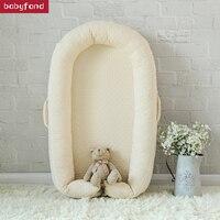 Детские кроватки Портативный детские кроватки новорожденных кровать детская латексированной кокосовой пальмы матрас.