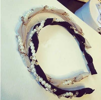 Красочные Стразы, звезды, цветок, лист, жемчужный обруч для волос, повязка на голову, повязка на голову для женщин и девочек, ободок для волос, аксессуары для волос