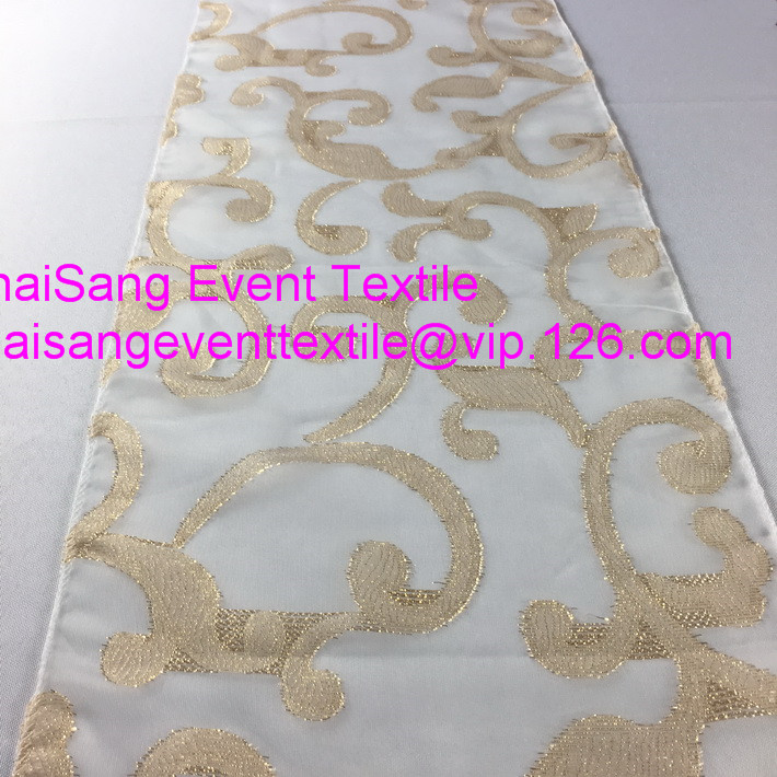 10pcs Ivory Swirl Fancy Flower Table Runners 30x270cmFor Weddings Events  U0026Party U0026Banquet Decoration