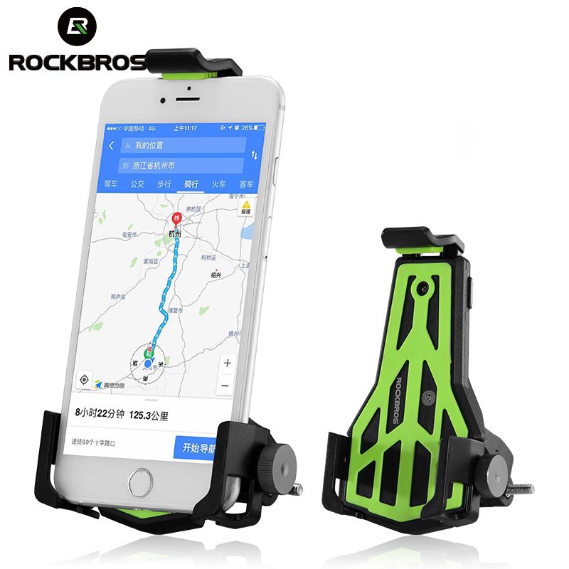 ROCKBROS Bicycle Handlebar Adjustable Cell Phone Mount Holder Bikes Phone Stand Bracket Universal Cycling Bike Accessories universal cell phone holder mount bracket adapter clip for camera tripod telescope adapter model c