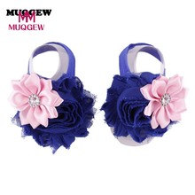 Baby Girls Soft Handmade Barefoot Flower Foot Band Toe Rings Floral Wedding Socks Baby Fashion Accessories(China)