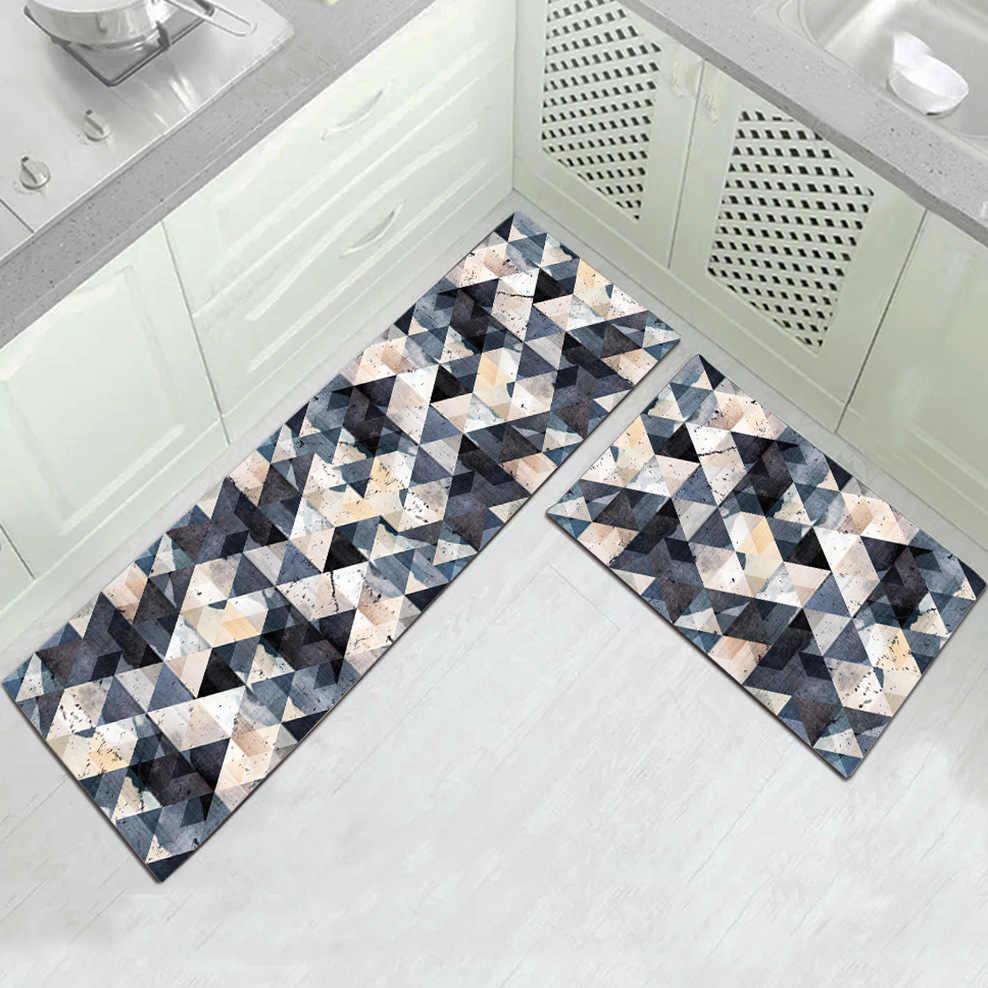 Longo tapete de cozinha tapete de banho casa entrada capacho tapete tapete tapete absorvente quarto sala estar moderna cozinha