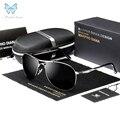 Alumínio Polarizadas Óculos De Sol Dos Homens Da Marca Clássico Designer de condução ao ar livre Óculos de pesca óculos de sol Piloto