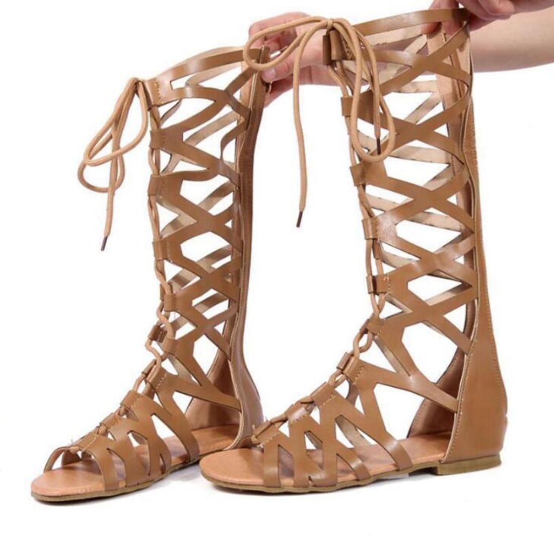 Justsl 2018 Sommer Frauen Flachem Boden Pedal Sandalen Feminina Gürtel Schnalle Schuhe Weibliche Komfort Römischen Sandalen Plus Größe Frauen Schuhe Frauen Sandalen