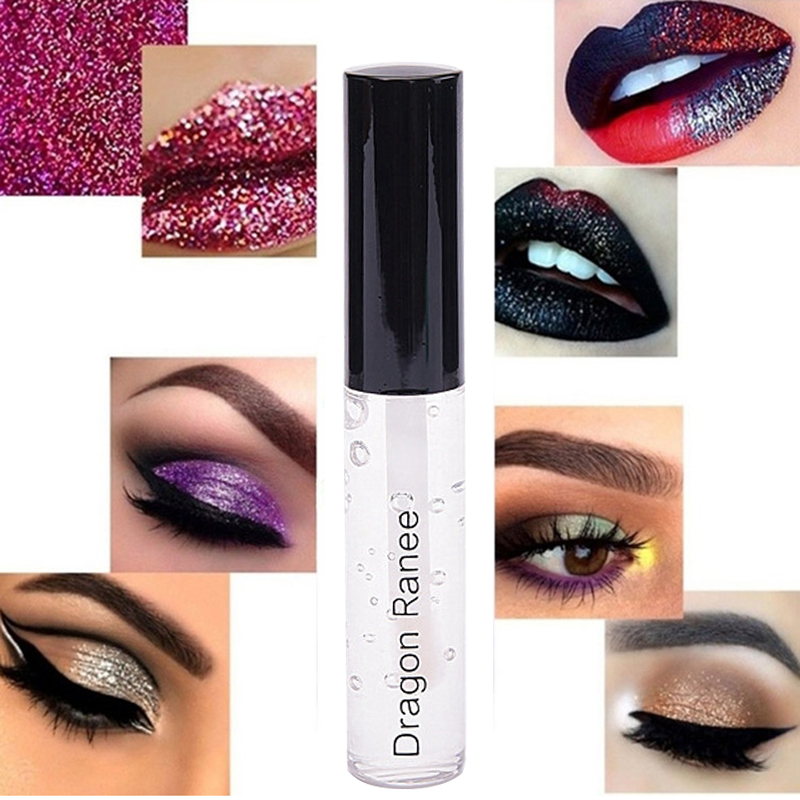 Primer Make Up Long-lasting Waterproof Glue For Glitter Eyeshadow Lips Colorful Silver Powder Glue Eye Shadow