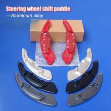 2pcs Aluminum Steering Wheel Shift Paddle Shifter Extension For Honda Civic 2017 2pcs steering wheel aluminum shift paddle shifter extension for honda fit 2009 2013