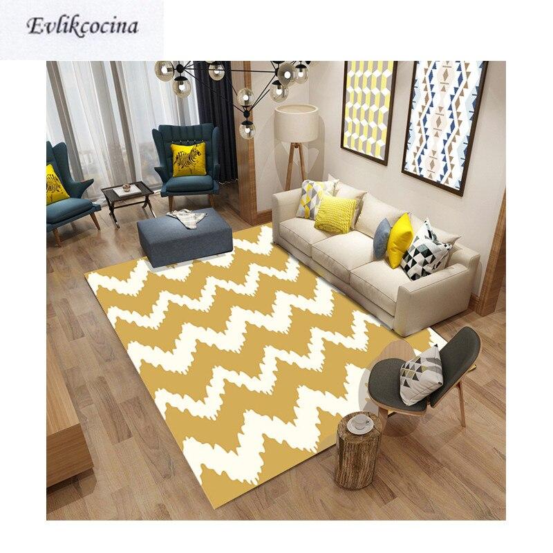 Livraison gratuite blanc café vague tapis chambre tapis tapis de sol pour salon chambre Design européen Tapete Para Sala Alfombra