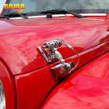 Hood-Lock Engine-Bonnets Wrangler BAWA for Jeep JK Retro Metal