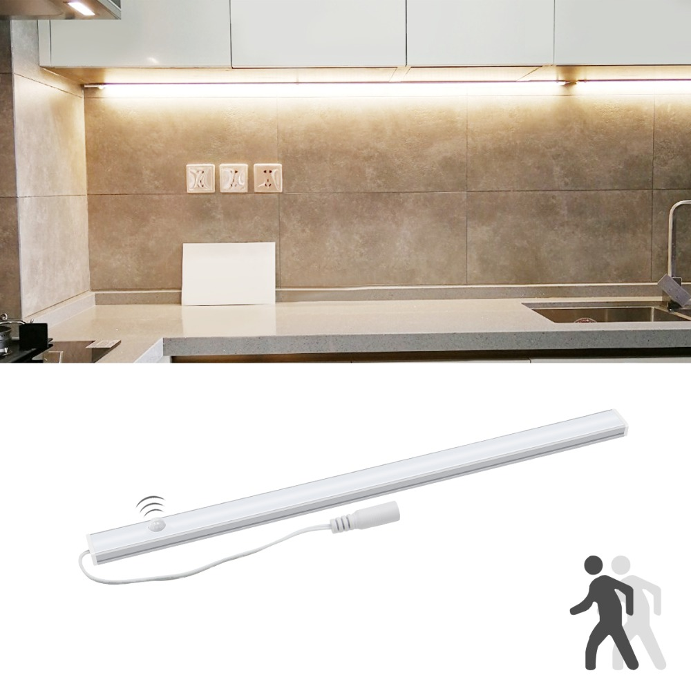 Modern 12v Kitchen Led Under Cabinet Lights Tubes 50cm: 30cm 40cm 50cm 12V PIR Motion Sensor LED Under Cabinet