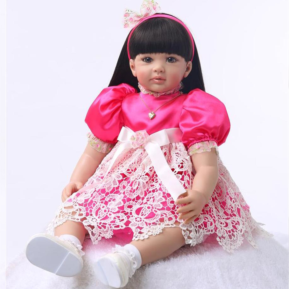 60CM Round face Bebe Reborn Doll Lifelike big eyes Soft Silicone Reborn Baby Dolls Toys For Girls best Gift Fashion Baby Dolls60CM Round face Bebe Reborn Doll Lifelike big eyes Soft Silicone Reborn Baby Dolls Toys For Girls best Gift Fashion Baby Dolls