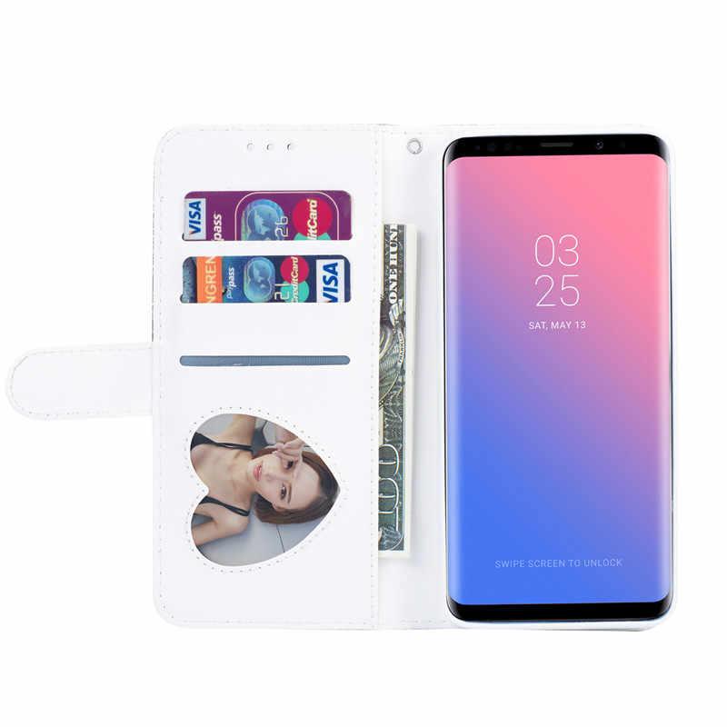 Бумажник с застежкой-молнией Кожаный Подставка для держателя для samsung Galaxy S9 S8 плюс S6 S7 край A6 J4 J6 2018 Note 8 9 Блестящий флип-Обложка