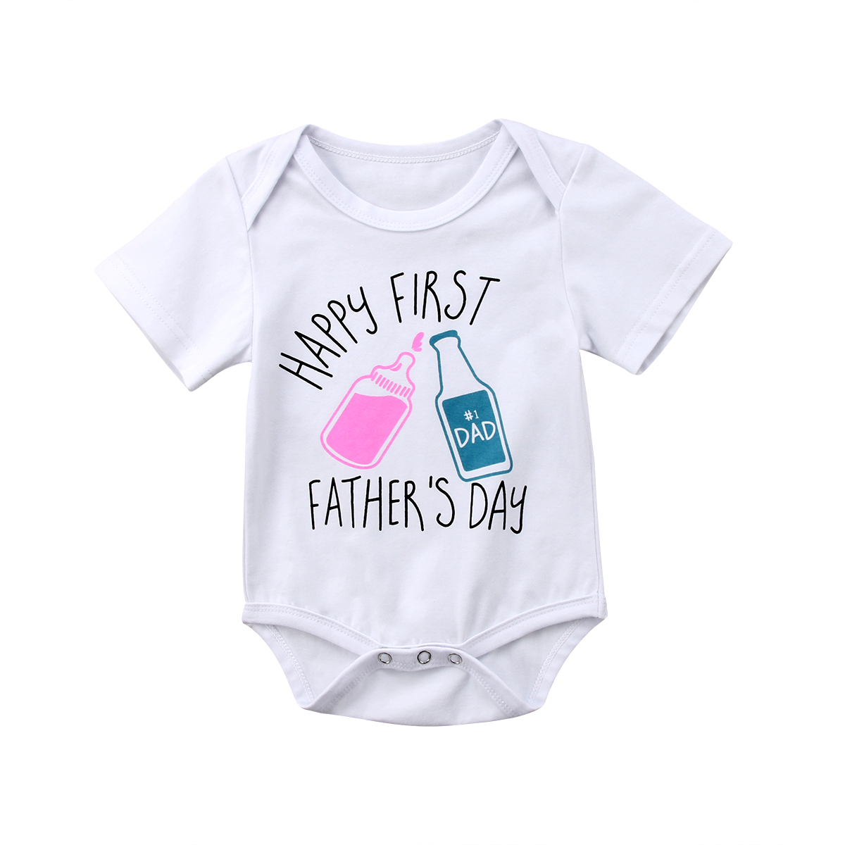 Newborn Baby Girls Boys Short Sleeve Bodysuits Father Day Bodysuits Jumpsuit Outfits Clothes