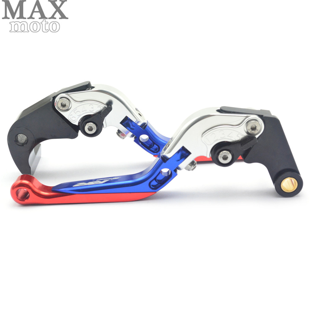 ФОТО CNC Aluminum Motorcycle Folding Adjustable Brake Clutch Levers and handle grips For BMW S1000RR S1000 RR 2010-2014