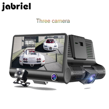For Sale Online Jabriel Car DVR With three Cameras 4.0 Inch IPS auto Registraror car drive Full HD 1080P Digital Video Recorder Dash Cam Camera