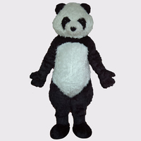 Long Plush Chinese Panda Mascot Costume Panda Costume For Kids Party
