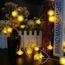 Rose Garlands 4M 20LED String Lights Night Decoration Flowers Light Fairy Lantern For Party Wedding Christmas Decor