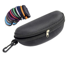 Eyewear Cases Sunglasses Reading Glasses Carry Bag Hard Zipper Box Travel Pack Pouch Case Eye Contacts Case(China)