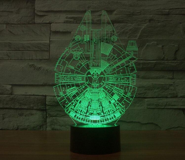 Deadpool Star Wars funk pop BB8 droid 3D Bulding Night Light Toy 7colors change visual illusion LED lamp Darth Vader Millennium