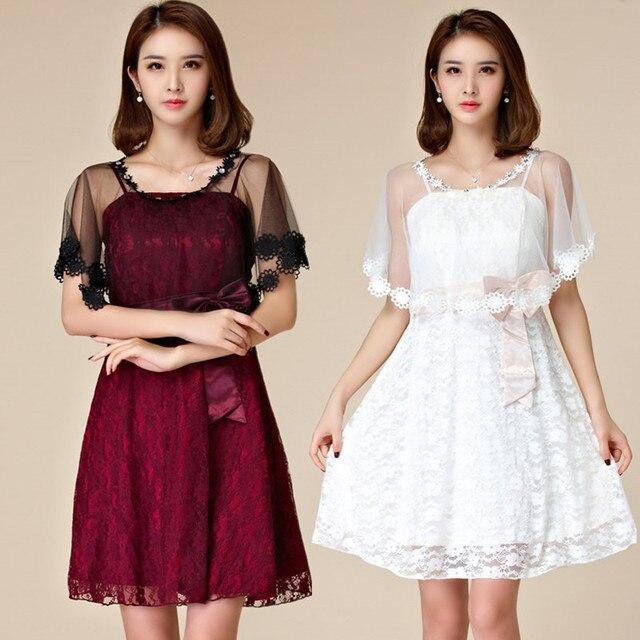 33a4d3baba F~3XL Plus Size NEW Sexy Elegant Special Occasion Party Big Short Lace Dress  2pcs Set Banquet Dinner Wedding Women Lady Vestido