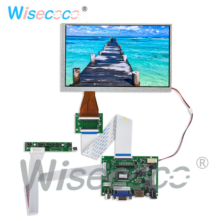 7.0 Inch Display TFT LCD A070VW04 V0 Resolution 800 X 480 60 Pin With Control Panel Remote Control
