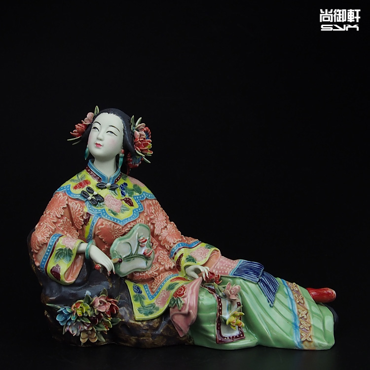 Yuxuan maestro di finissima ceramica ornamenti bambola Shiwan Shang signore della molla figura artigianato decorazione regalo di inaugurazione della casaYuxuan maestro di finissima ceramica ornamenti bambola Shiwan Shang signore della molla figura artigianato decorazione regalo di inaugurazione della casa