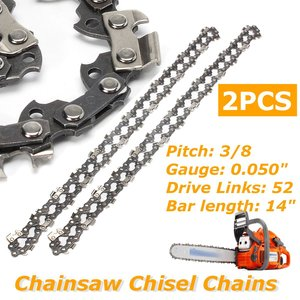 2pcs/set 14 Inch Chainsaw Saw Chain Drive Link Pitch 52 Link 3/8LP 050 Gauge Chainsaw Blade For Husqvarna Garden Tools(China)