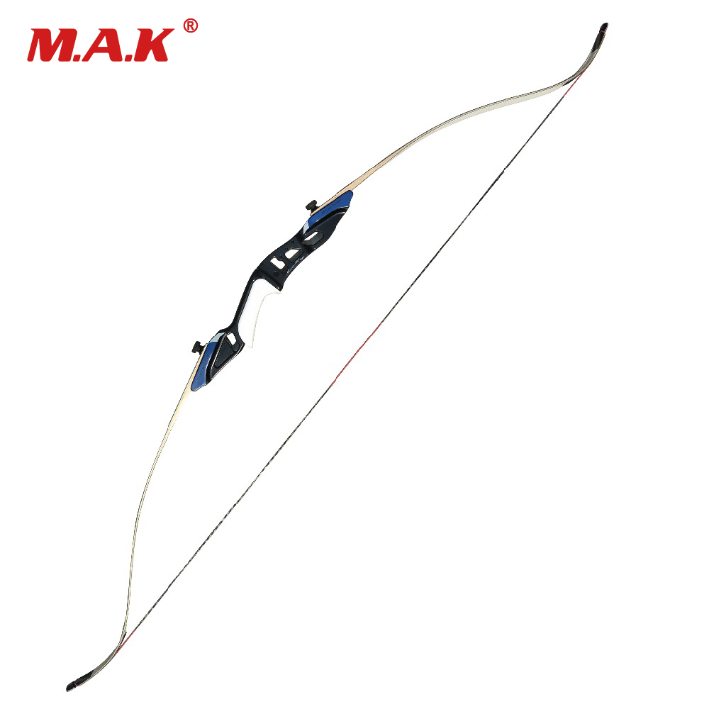 2 Color 58 Inches American Hunting Recurve Bow 25-50 LBS for Outdoor Archery Hunting Target Shooting 2 color 58 inches american hunting recurve bow 25 50 lbs for outdoor archery hunting target shooting