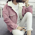 Hot Sale Fashion 2017 Winter Women Jackets Short Outwear Coat Corduroy Pink Harajuku Thicken Woman Clothes Casual Autumn Jacket