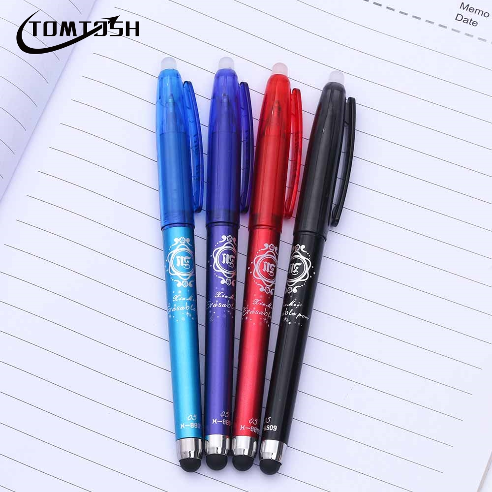 TOMTOSH 1 Pcs Erasable Gel Pen Office pen school supplies  Red Blue Ink Blue Refills Writing a pen