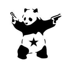 BANKSY PANDA STICK EM UP Funny Car Van Bumper Window Laptop Vinyl Decal Stickers JDM DUB VAG EURO(China)