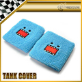 2pcs/pair For Sky Blue Domo Reservoir Tank Cover Radiator Cover UNIVERSAL JDM Wrist Waist Band Finesse