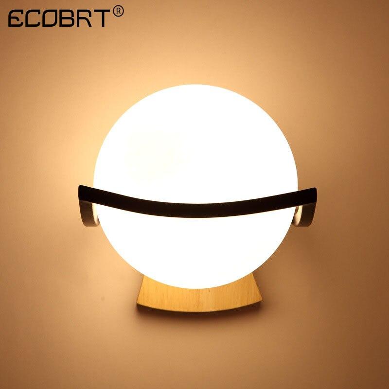 ECOBRT nouveau E27 mur LED lampe boule de verre applique passage couloir chambre lampe de chevetECOBRT nouveau E27 mur LED lampe boule de verre applique passage couloir chambre lampe de chevet