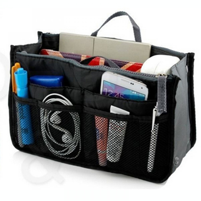 ISKYBOB Portable New Women's Fashion Bag in Bags Cosmetic Storage Organizer Makeup Casual Travel Handbag 14 Colors