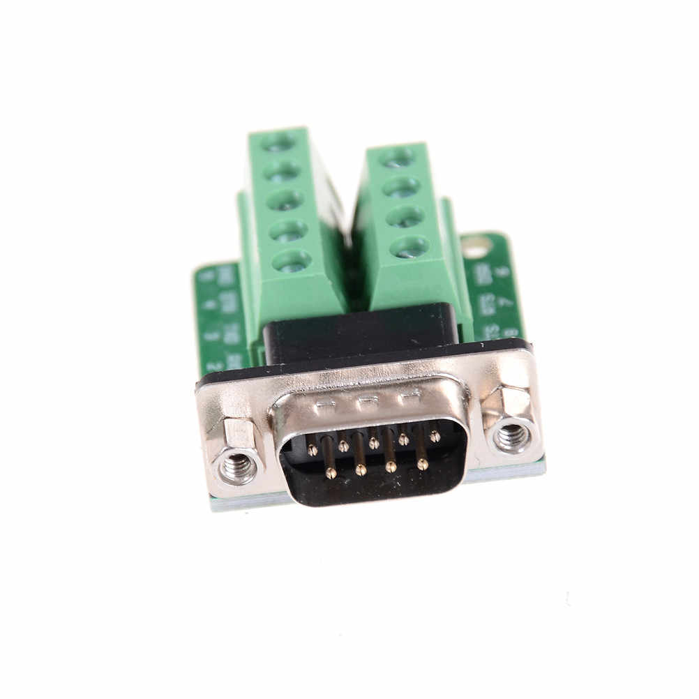 DB9 Connector Terminal Module RS232 RS485 Adapter Signals Interface Converter Male COM D Sub 9Pin