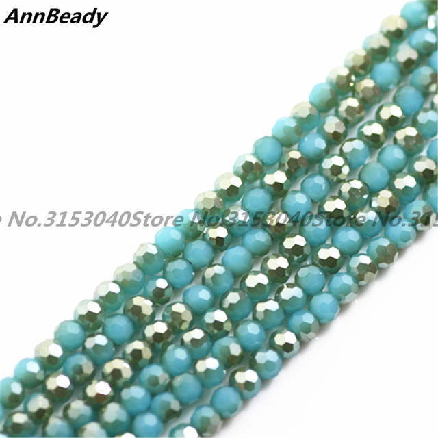 1000 pcs Half Solid Plated Golde Color 4mm Austria Crystal Football Beads  Round Loose Crafts Spacer Beads for Jewelry Making 15ae223e4416