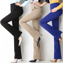 Autumn and winter new micro-La trousers high waist elastic straight trousers emaciate big pants