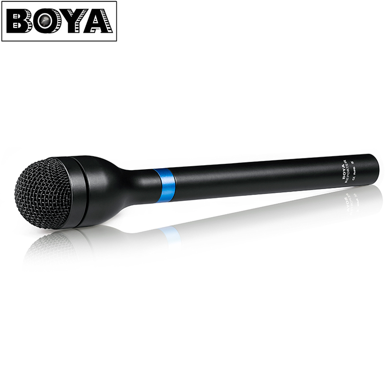 BOYA BY-HM100 Handheld Dynamic Wireless Microphone Mic Omni Directional XLR Connector Aluminum Alloy Body Extra Long Handle boya by a01 3 5mm omni directional recording condenser microphone for iphone ipad silver