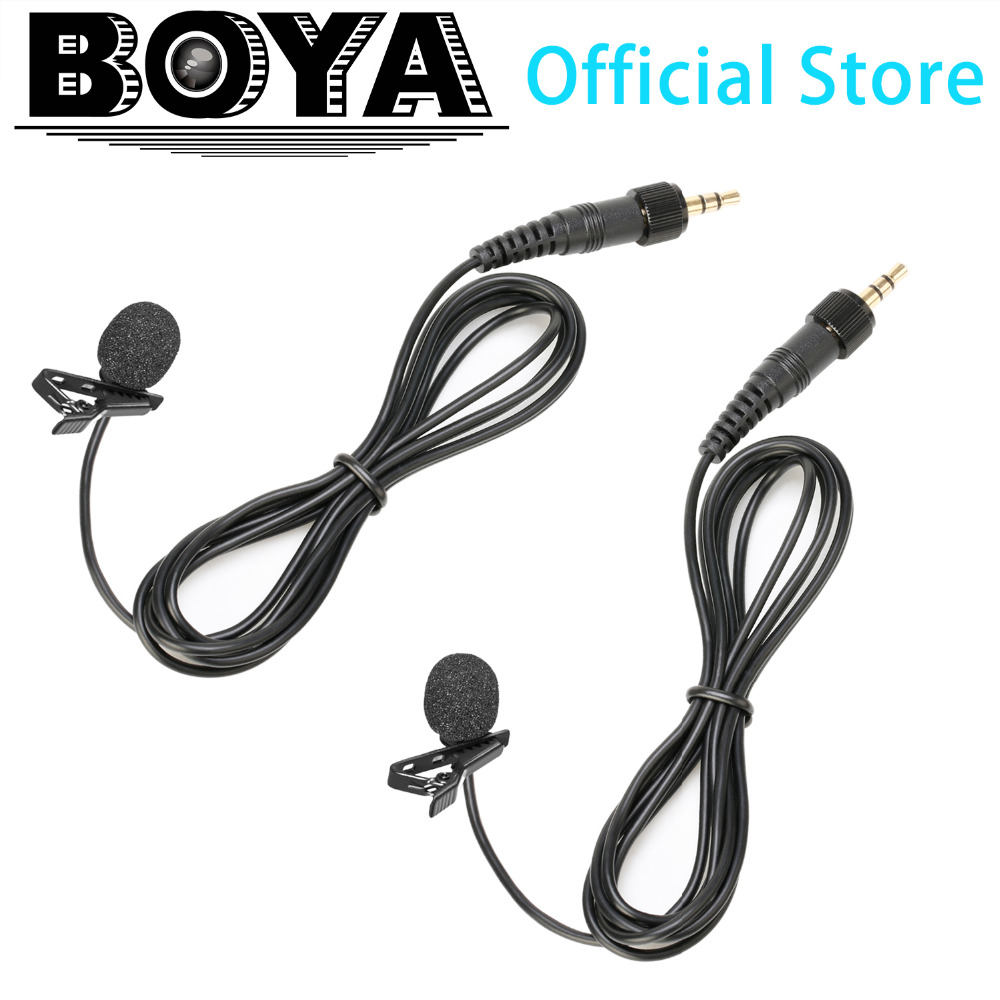 BOYA Lapel Lavalier Microphone for BY-WM6 BY-WM8 Wireless Microphone System and Sennhaiser Wireless Mic saramonic vmiclink5 hifi 5 8ghz lavalier lapel wireless microphone system for news gathering