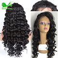 Synthetic Lace Front  Wigs With Baby Hair Deep Curly Synthetic Lace Front Wig For Black Women Glueless Heat Resistant Lace Wig