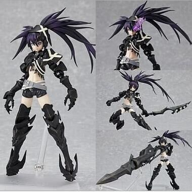 ФОТО Black Rock Shooter Action Figures Figma SP041 PVC 150mm Figure Model Toys Anime Black Rock Shooter Figma
