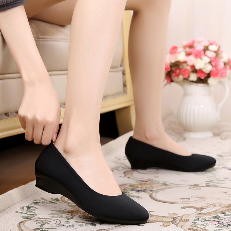 Cotton-made beijing shoes women's shoes black work shoes comfortable wedges single shoes foot wrapping casual soft shoes managing projects made simple