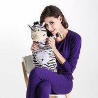 Karikatür Sıcak Su Şişesi ile Ayrılabilir Yumuşak Peluş Hayvan Kapak Piggy Zebra Ayı El Sıcak Su Dolum Sıcak Su Torbası