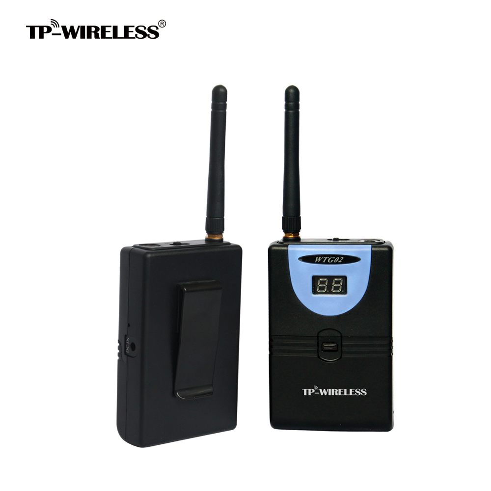 Custom Logo 2.4GHz Digital Wireless Tour Guide system HDCD Transmission Audio Effective 1Transmitter 1Receiver blueskysea atg100 wireless tour guide system 1transmitter 15 receivers charger for meeting visiting teaching 195 230mhz portable