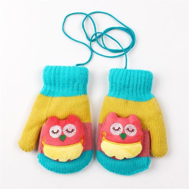 Lindo búho niños guantes de dibujos animados infantil manopla caliente niños  niñas mitones Paquete de niño e8afac0b968