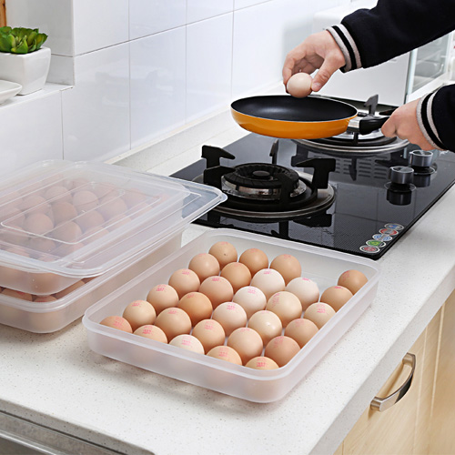 Clear Large Capacity Portable Home Picnic Plastic Egg Box Case 30