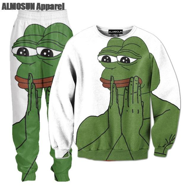 Almosun Pepe The Frog 3d All Over Print Tracksuits Sweatshirts Hip